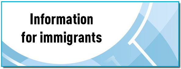 Information for immigrants banner