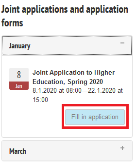 Image of accessing the application form from the front page.